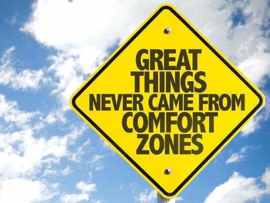 Buiten De Comfortzone, dat is waar we groeien.