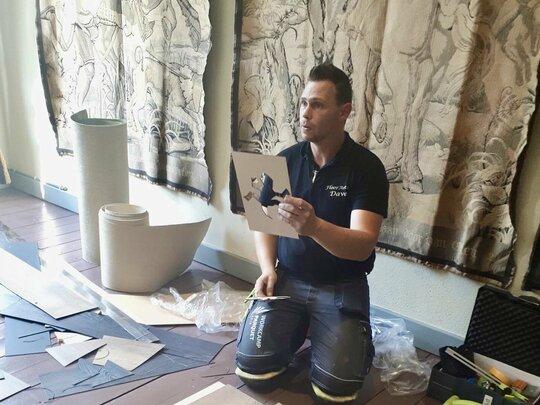 Interieurvakman Dave Amweg maakt van elke vloer een kunstwerk