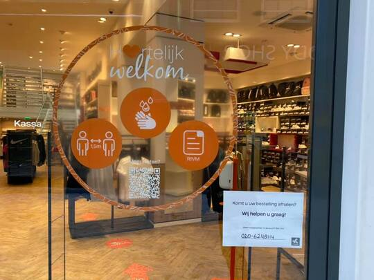 Grotere winkels mogen vanaf 16 maart meer klanten ontvangen