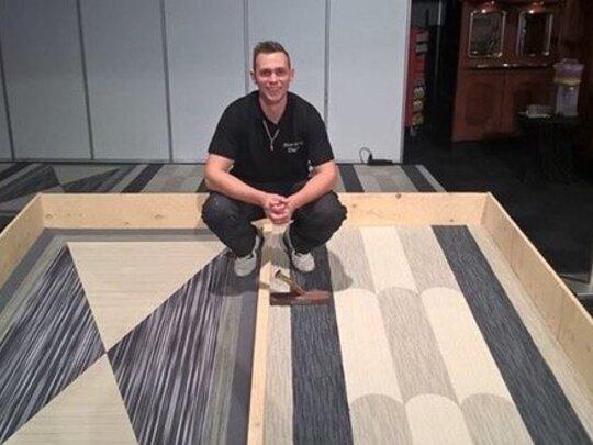 'Floor Artist' Dave Amweg kijkt uit naar het NK Woning- en Projectstofferen